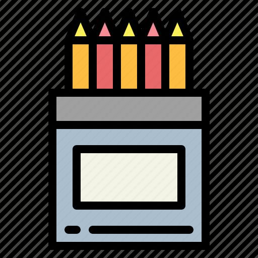color, colored, crayon, education, pencil, pencils icon