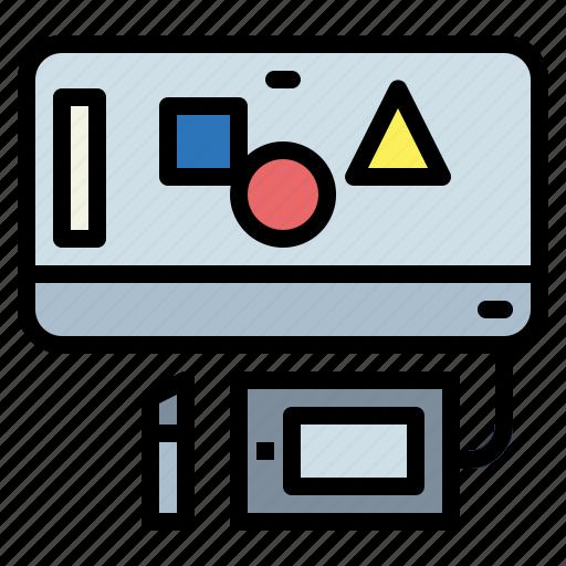 design, editor, graphic, graphics, monitor, screen icon