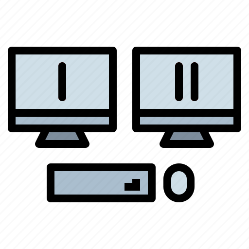 computer, monitor, screen, television, tv icon