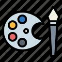 design, edit, paint, painting, palette, tools icon