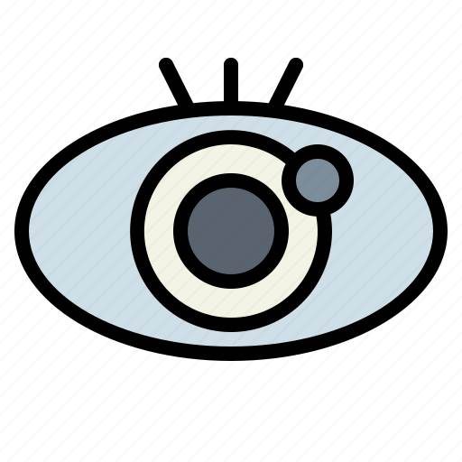 gestures, optical, view, vision icon