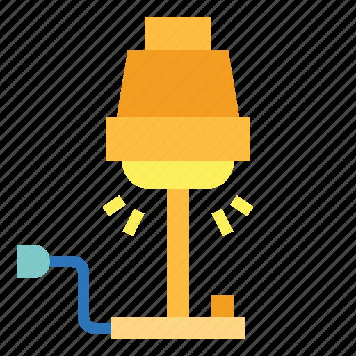 desk, electronics, lamp, light icon