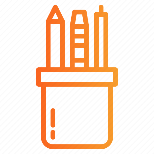 case, edit, education, material, office, pencil, tools icon