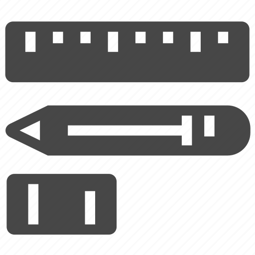 design, drawing, eraser, measure, pen, pencil, ruler icon