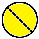 cancel, forbidden, no, prohibited icon