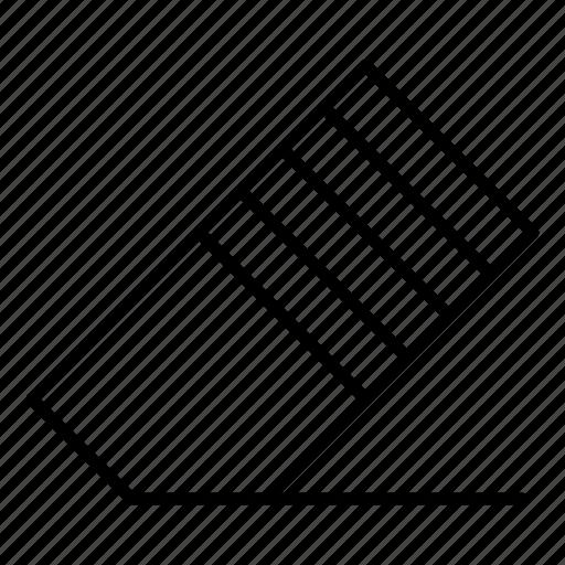 delete, eraser, remove, rubber, stationery tool icon