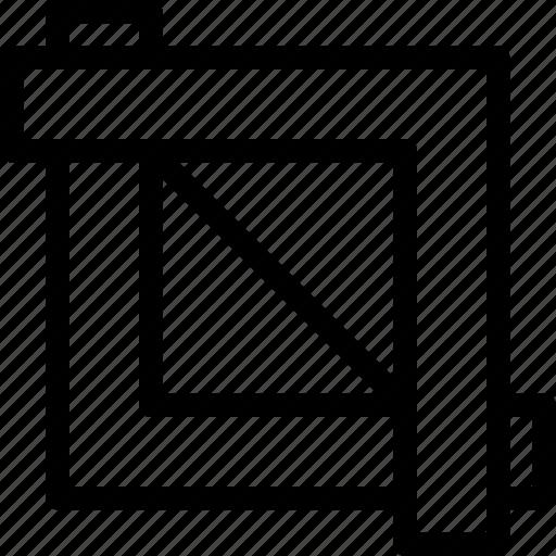 crop, crop-tool, cut, design, edit, line-icon, tool icon
