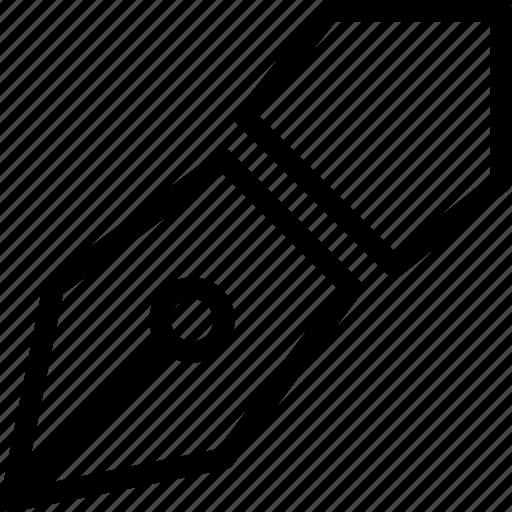 design, line-icon, pen, pen-tool, precision, tool, write icon