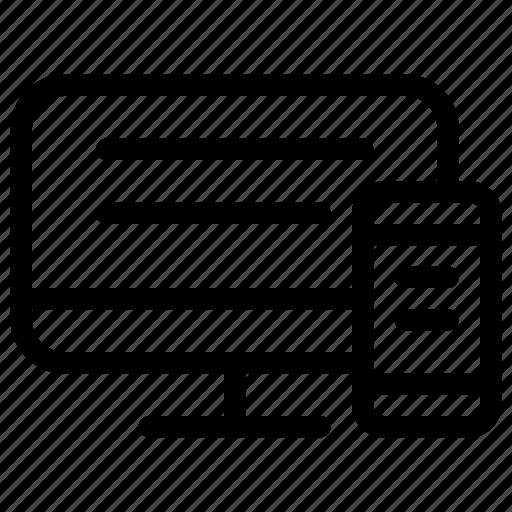 computer, design, digital, line-icon, responsive, responsive-design, tool icon