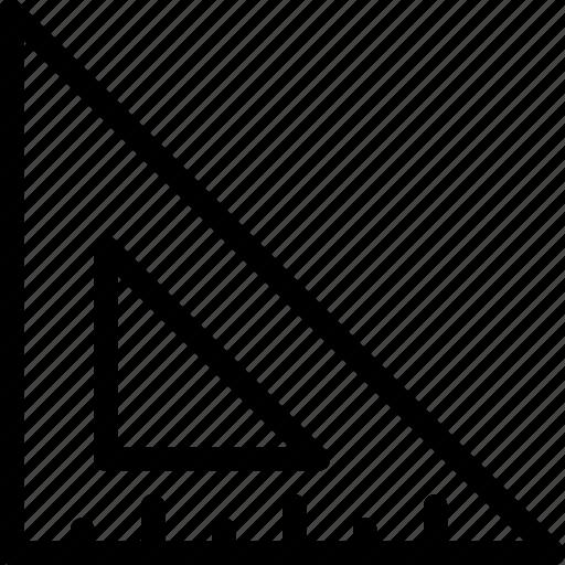 design, line-icon, measure, ruler, scale, tool, triangle icon