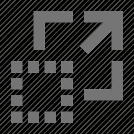 arrow, expand icon