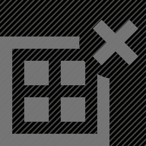 close, delete, grid, layout icon