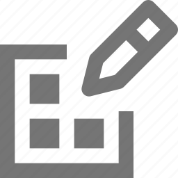 edit, grid, layout, pencil icon