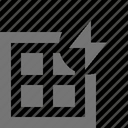 flash, grid, layout, lightning icon