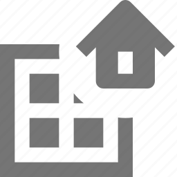 grid, home, house, layout icon