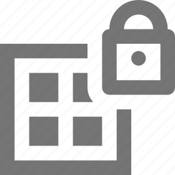 grid, lock, security icon