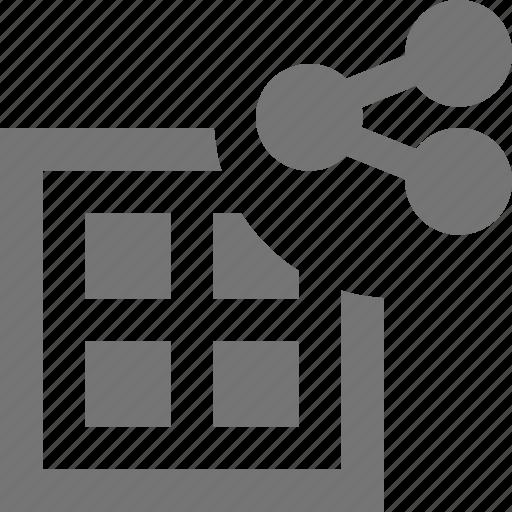 grid, share icon