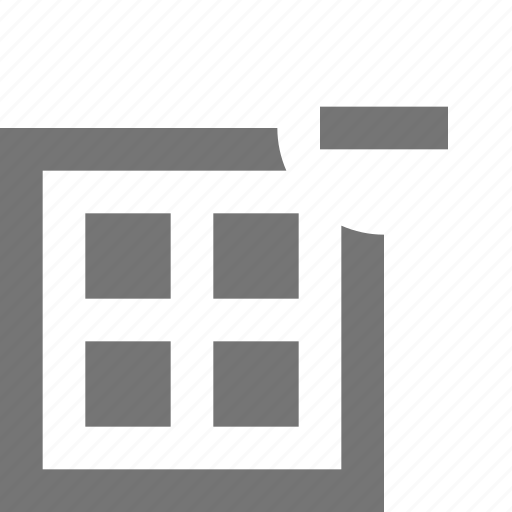 grid, layout, minimize, minus, remove icon