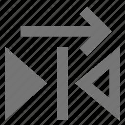 copy, reflect, right icon