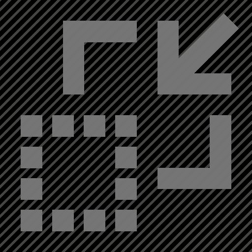 arrow, minimize, shrink icon