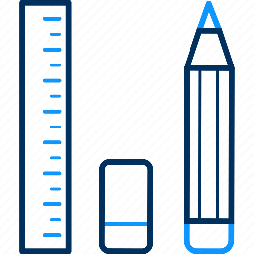 drawing, eraser, graphic, pen, pencil, ruler, tool icon