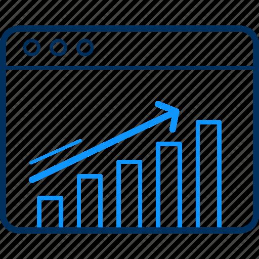 bar, chart, design, designing, growth, pie, sales icon