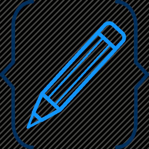 artistic, creative, creativity, design, designing, pencil icon