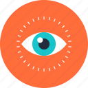 effects, eye, eyeball, eyesight, idea, imagination, review, search, vision, watch icon