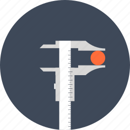 calipers, construction, design, development, engineering, instrument, measure, precision, ruler, size icon