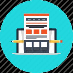 computer, design, development, internet, laptop, online, ui, ux, web, website icon