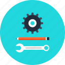 cog, cogwheel, construct, design, development, engineering, gear, invention, settings, tool icon