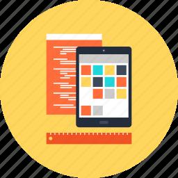 app, application, coding, design, development, interface, mobile, software, tablet, web icon