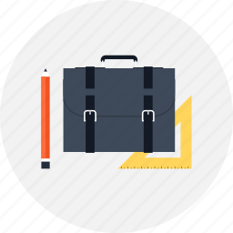 bag, briefcase, business, design, development, document, office, portfolio, professional, suitcase icon