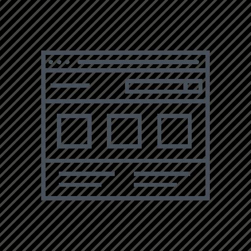 computer, design, interface, monitor, responsive, screen, web design icon