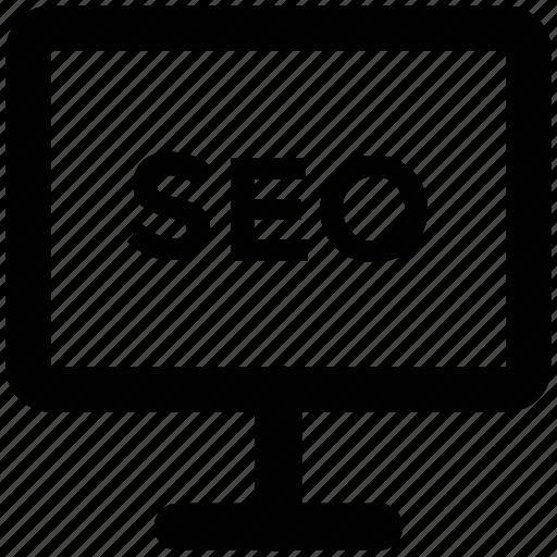 display, optimization, screen, search engine optimization, seo, seo concept, seo service icon