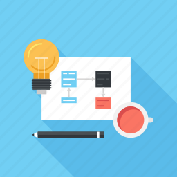 design, development, idea, management, plan, process, workflow icon