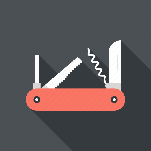 army, design, development, instrument, knife, swiss, tool icon