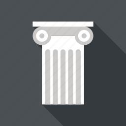 ancient, architecture, column, greek, history, pillar, rome icon