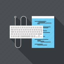 coding, computer, device, input, keyboard, program, programming icon