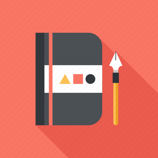 art, design, drawing, graphic, notebook, notepad, sketch icon