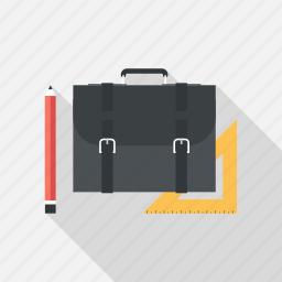 bag, briefcase, case, job, pencil, portfolio, suitcase icon