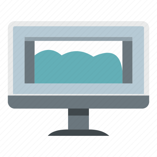 digital, drawing, drawing monitor, graphic, sketch, tablet, technology icon