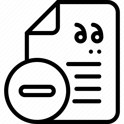editor, page, remove, text icon