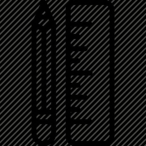 design, editor, office, pencil, ruler, tool icon