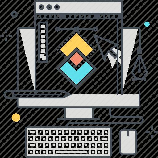 art director, designer, develop, draw, graphics, graphics design, square icon