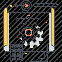 calculator, commerce, development, pen, product, prototyping, scheme icon