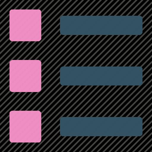 bullet, design, development, list, ui icon