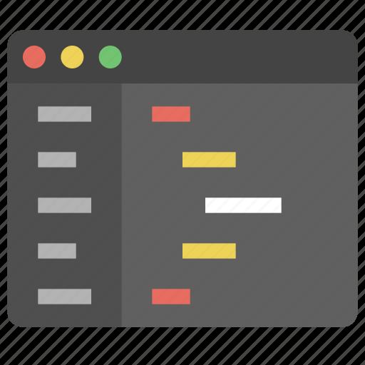 code, design, development, editor, programming, text icon