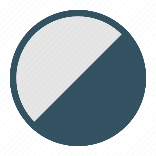 adjustment, contrast, design, development, half, moon, weather icon