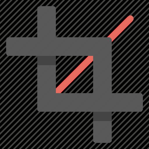 crop, cut, design, development, tool icon